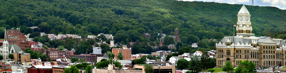 View of Pottsville, PA